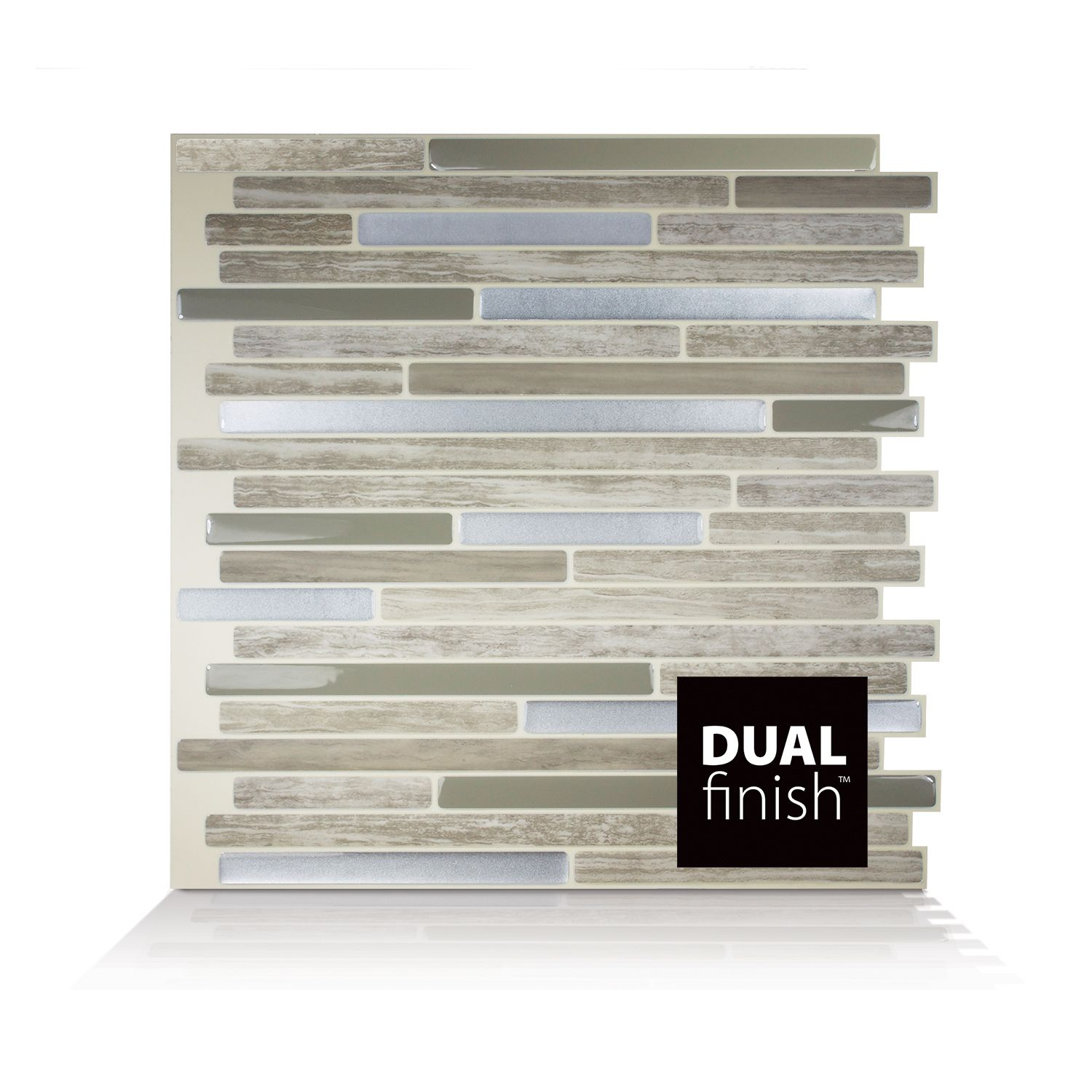 Smart Tiles Mosaik Capri Taupe Dual X L Stick Mosaic Wall Tile In Beige And