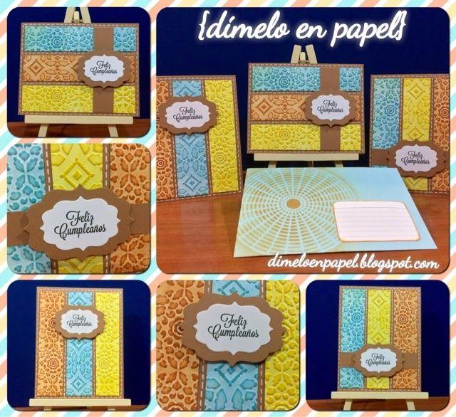 Unas tarjetas de cumpleaños con texturas de colores! | Dímelo en Papel