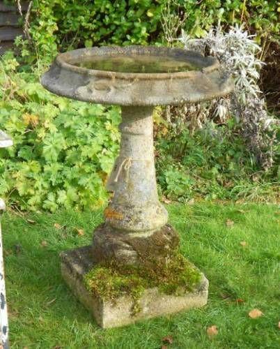 Antique Bird Bath In From The Vintage Garden Company Bird Bath Bird Bath Garden Concrete Bird Bath