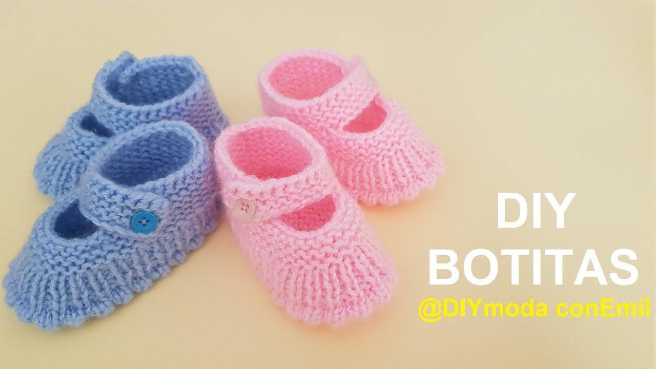 Botitas De Bebé Tejidas A Dos Agujas Paso A Paso Diy Moda Con Emil Ropa Para Bebé De Ganchillo Ganchillo Bebe Botitas Tejidas Para Bebe