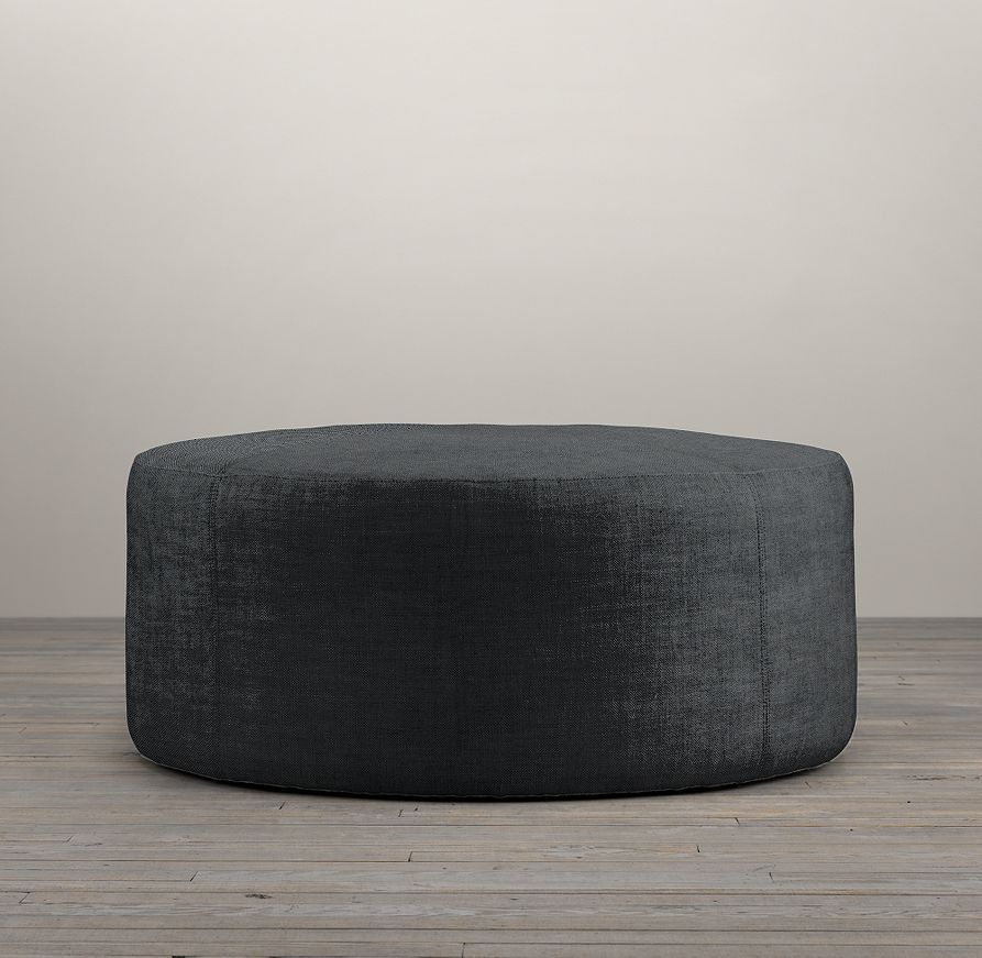 36 Cooper Round Ottoman Round Ottoman Ottoman Ottoman In Living Room