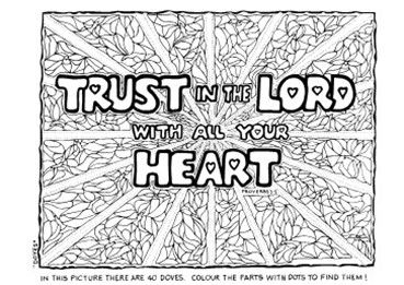 Trust In The Lord With All Your Heart Bible Crafts Colouring Pages Bible Lessons