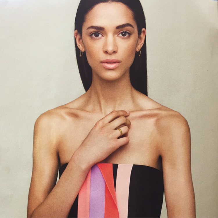 a037010e6 Flying the British Flag Harpers Bazaar July issue 2015 Dinny Hall cushion  hoops.