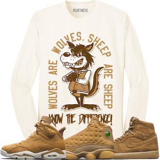 a692fbfcd76f88 Jordan 6 Wheat Golden Harvest Long Sleeve Shirt - WOLFS SHEEP ...