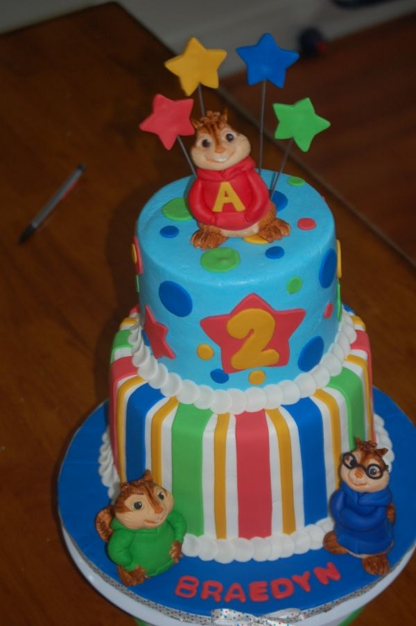 Alvin And The Chipmunks Cake Avec Images Fete Bash