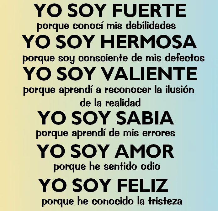 Yo Soy Feliz Life Frases Positivas Frases Y Frases