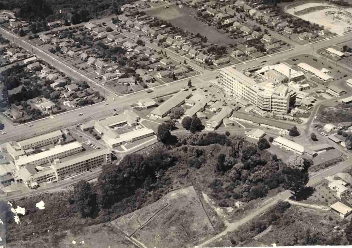 Tauranga Hospital February 1962 aerial view