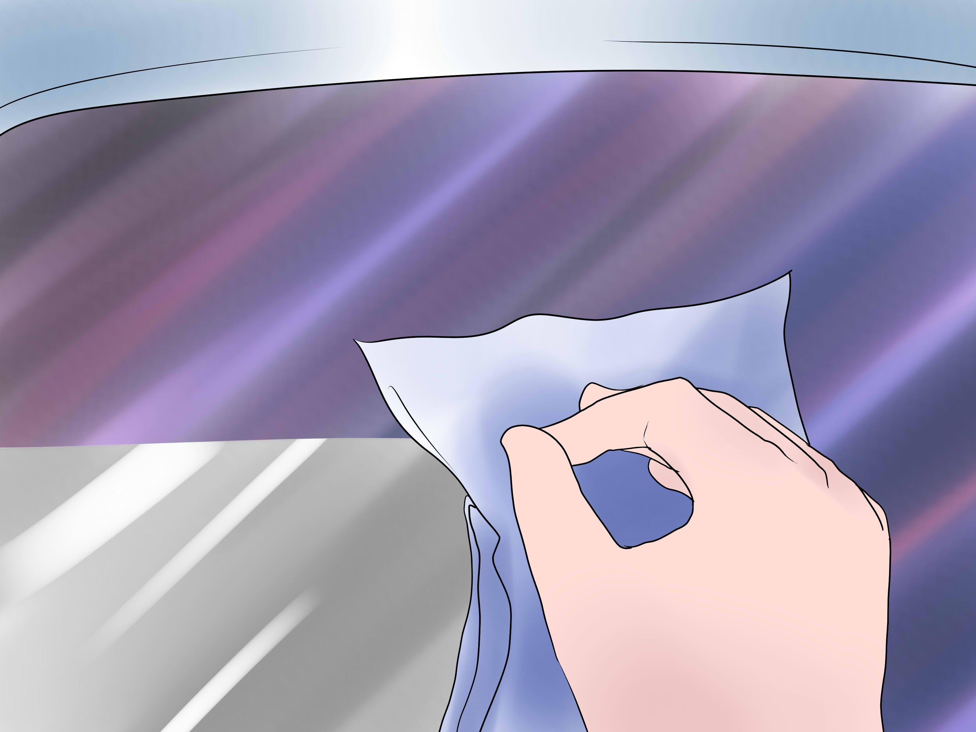 Removing Car Window Tint Adhesive