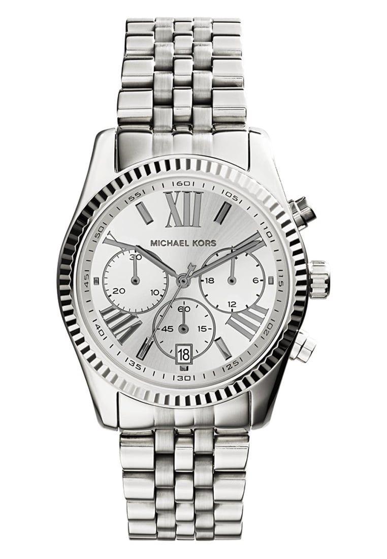 Michael Kors Chronograph Edelstahl Damenuhr Mk5555 Michaelkors Fashion Mode Uhren Stylaholic Luxury Luxus Damenuhren Michael Kors Uhr Damenuhr Silber