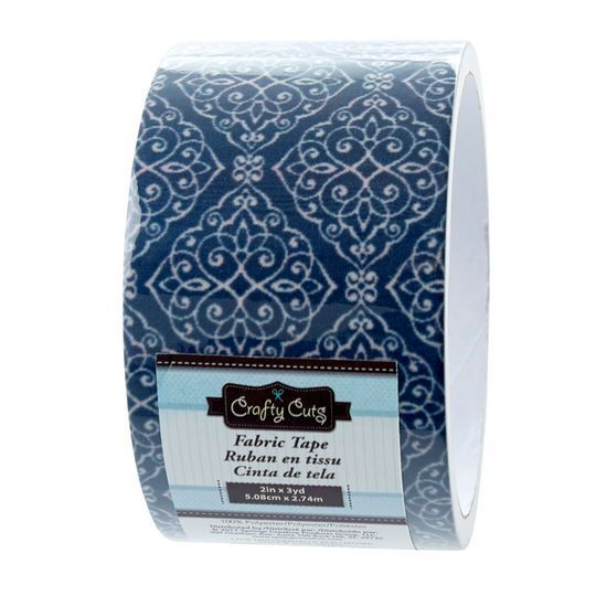Crafty Cuts® Lace Fabric Tape, Navy | Michaels® #fabrictape