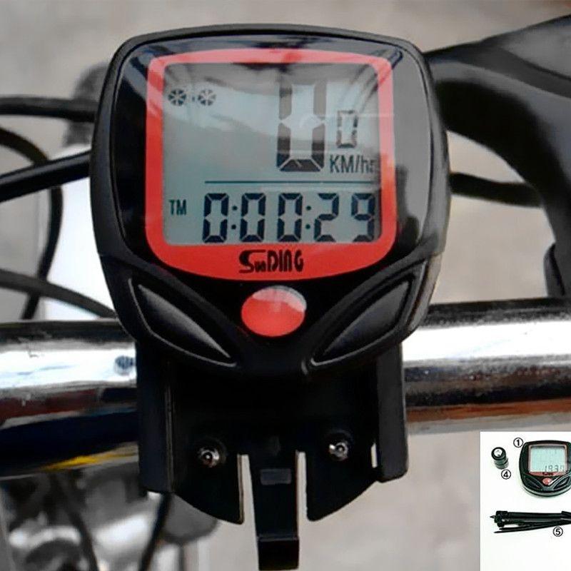 Waterproof 14 Function Bike Bicycle Cycling LCD Computer Odometer Speedometer