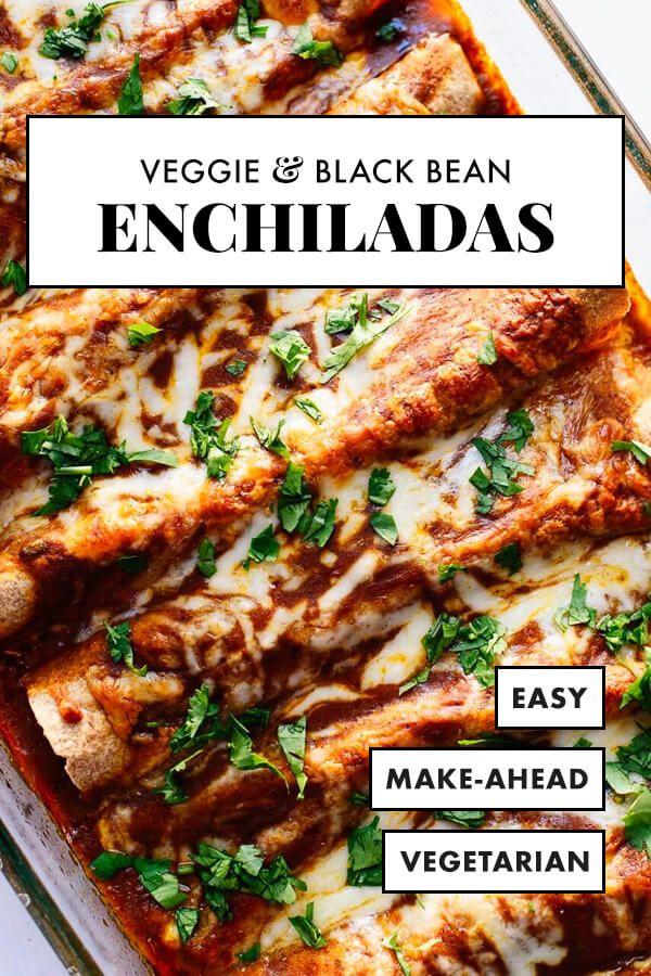 Veggie Black Bean Enchiladas #bellpeppers