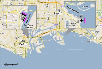 Los Angeles Cruise Port Map Httpwwwcruisetimetablescom - Cruise from los angeles