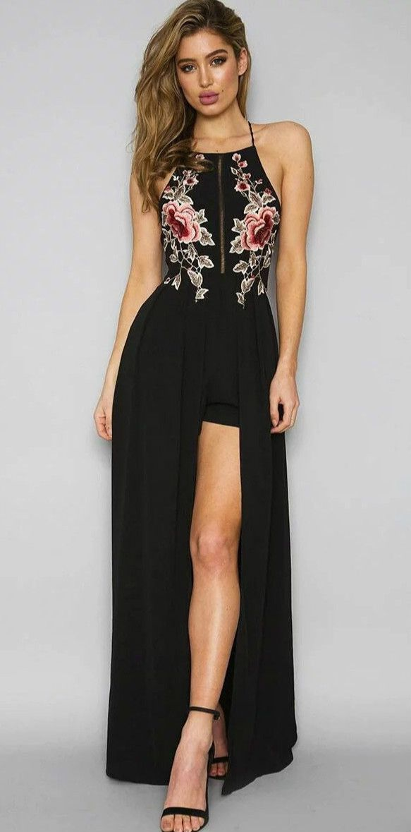 ab645ad5381 Just bought this dress today and I m in love with it!! elegant black high  quality bandage long casual dress with halter design for ladies ...