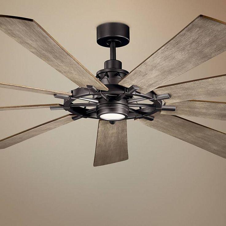 """Monte Carlo Maverick 60"""" Modern Ceiling Fan in Matte Black"""