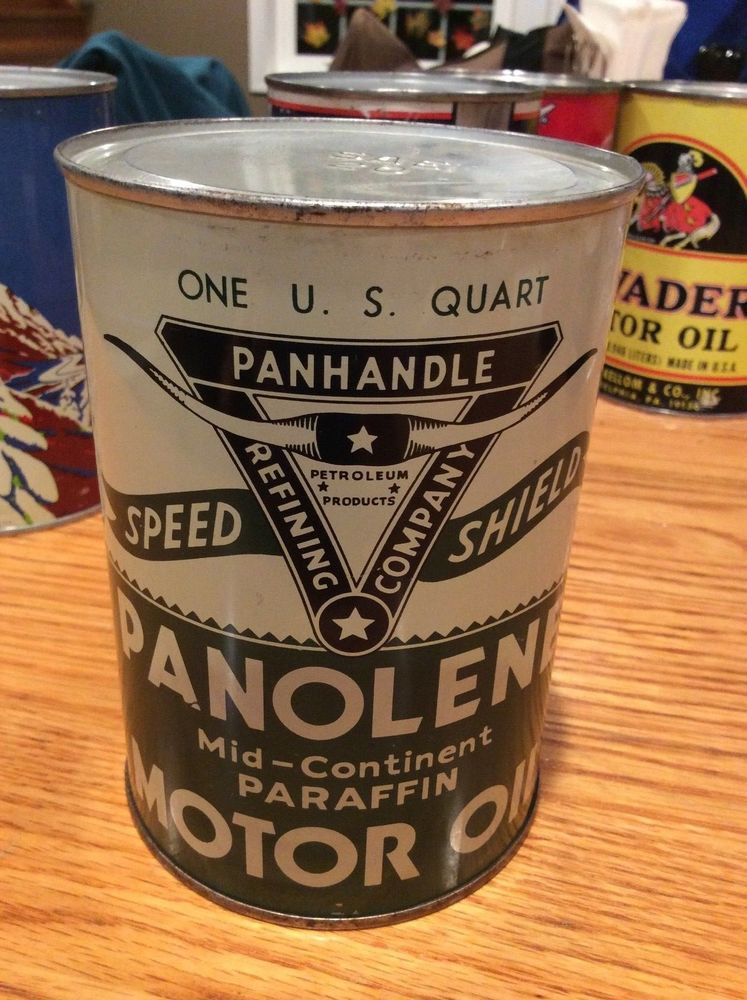 Vintage Panolene Speed Shield Motor Oil Can 1 Quart Wichita Falls Texas Full Ebay Oils Motor Oil