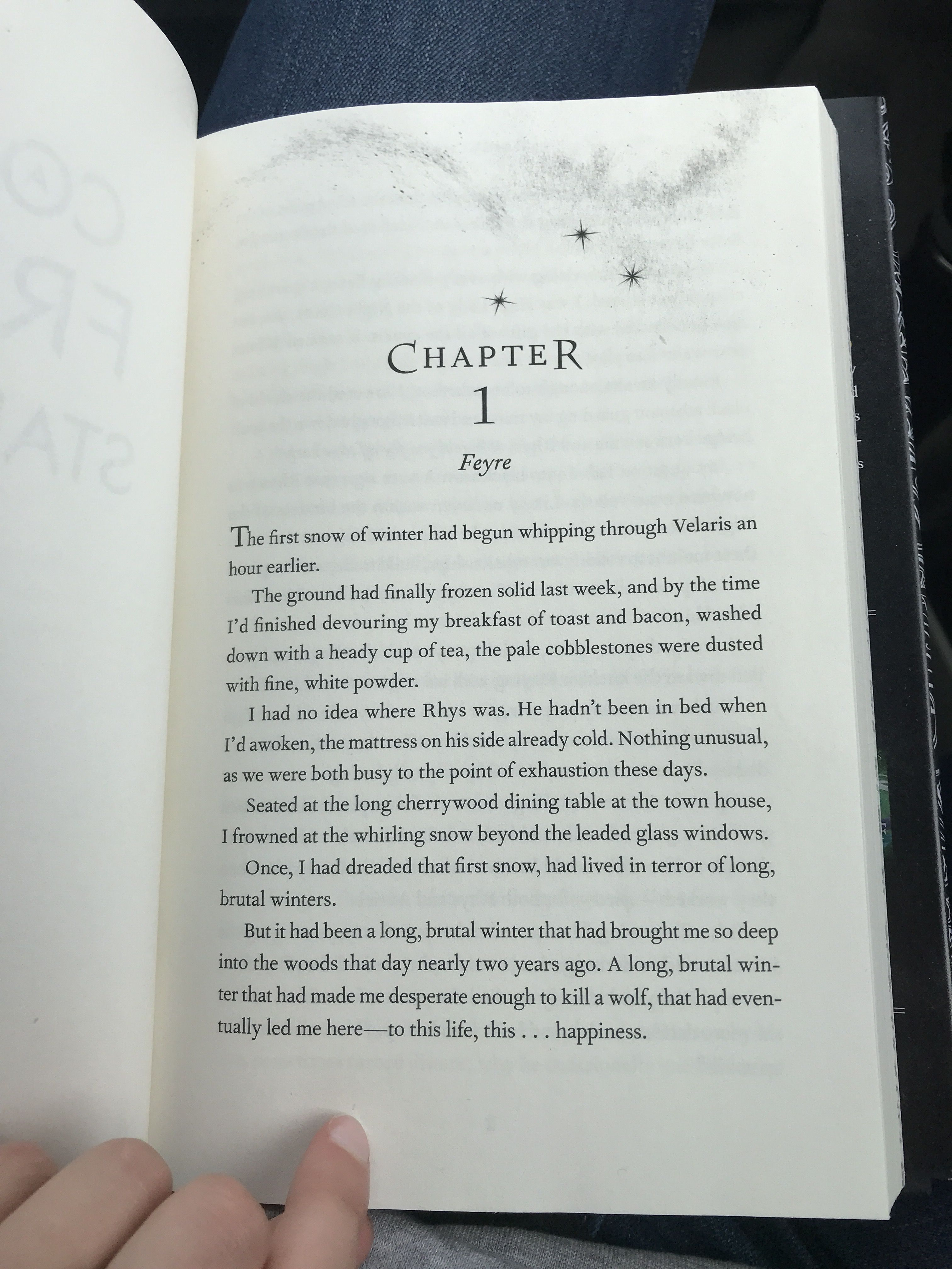 First Page In Acofas Got The Book Early Sarah J Maas Books A