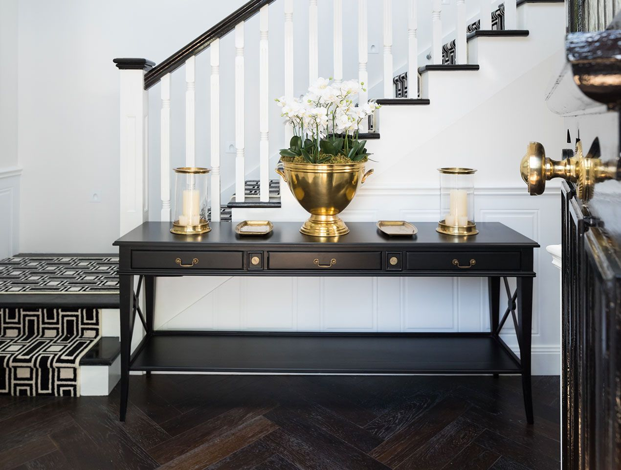 How to make a sofa table out of floor boards - Want That Wow Factor About Your Property Darker Floorboards Can Create That Whilst