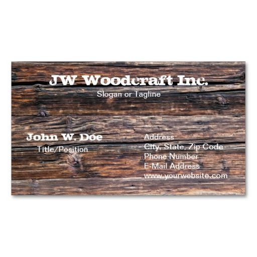 Old Grunge Wood Texture Business Card. Make your own business card with this great design. All you need is to add your info to this template. Click the image to try it out!