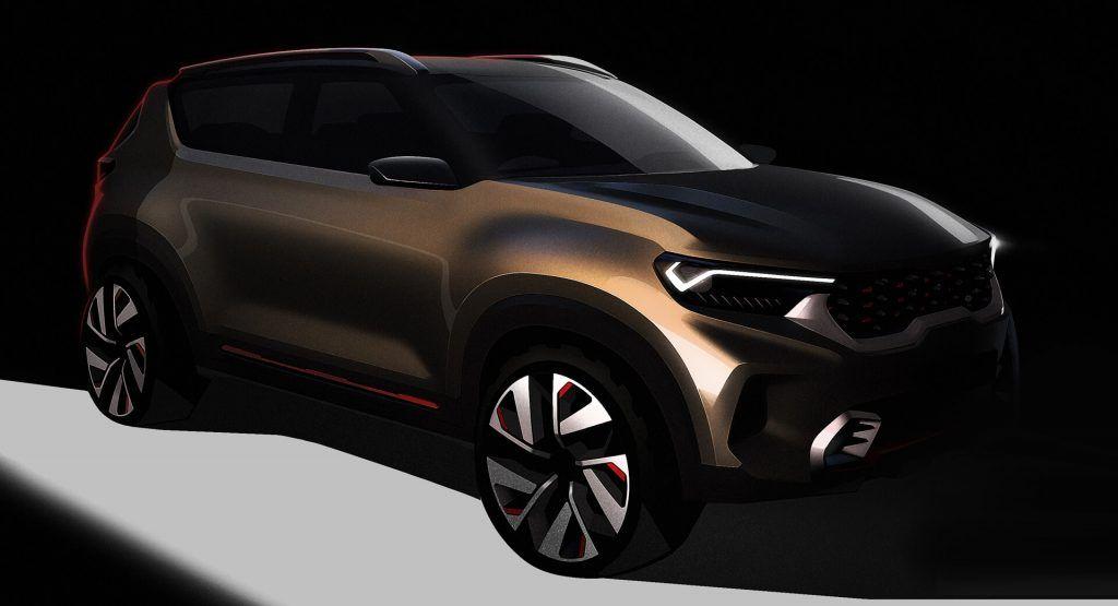 New Kia Compact Suv Concept Teased For India S Auto Expo 2020 In 2020 Compact Suv Subcompact Suv Suv Cars