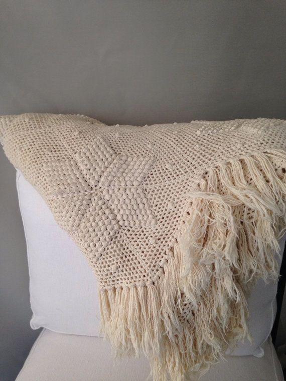 Vintage Crochet Bedspread by MayaVintage on Etsy   Croché cama y ...