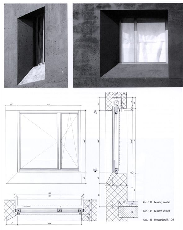 Architectural Drawing Window window detail - open air theatre - image: haworth tompkins