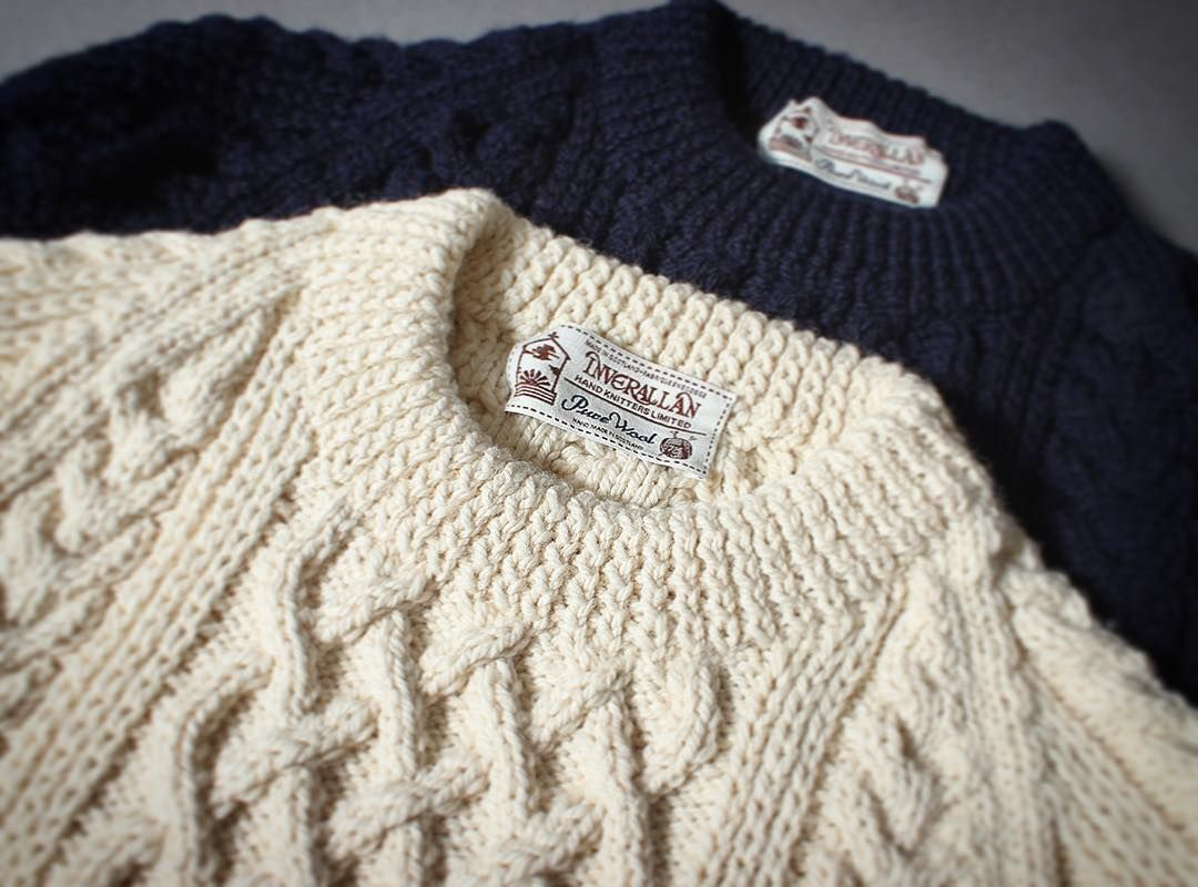 inverallan 1a sweaters heavy weight aran ¥64000+tax #handmade ...