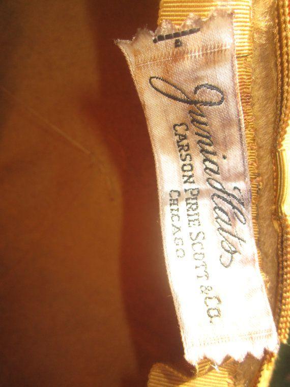 Vintage 1960s Gold  Designer Junia Hats by ReToDoVintage on Etsy, $22.00