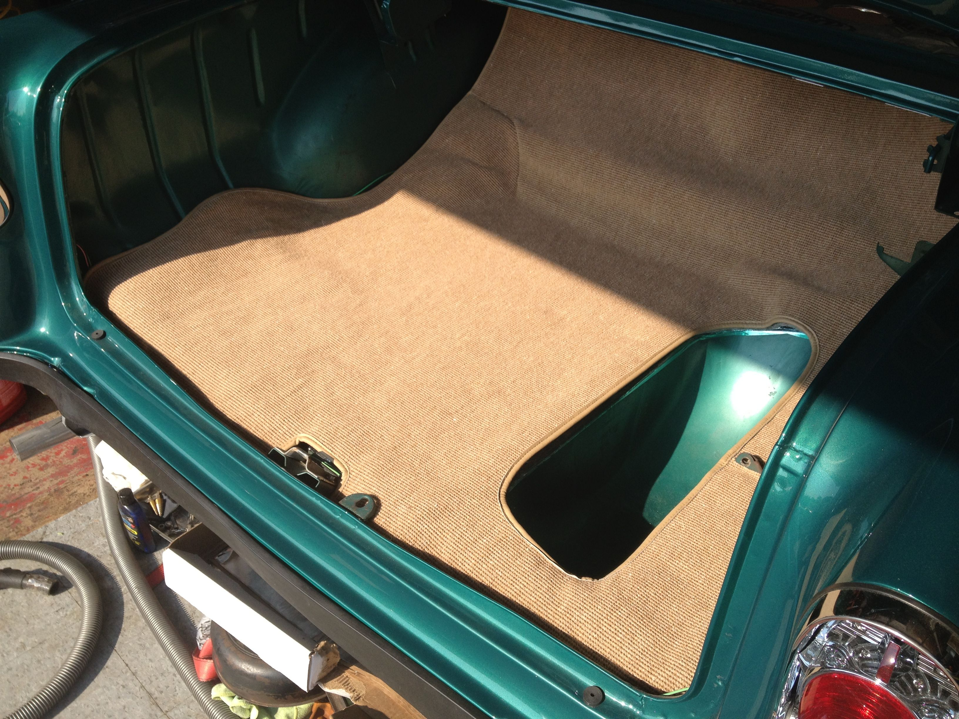 get rid of that old rubber trunk mat a carpeted trunk makes for a cleaner look and costs about. Black Bedroom Furniture Sets. Home Design Ideas