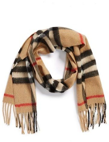 Burberry Cashmere Scarf (Girls) on shopstyle.com | Accessories ...