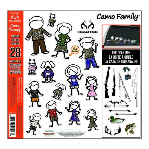 Realtreecamo Family Decals This 28 Pack Of Realtree Camo Family