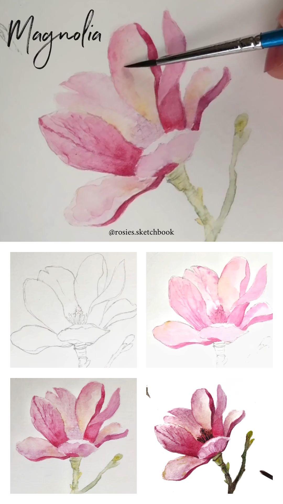 Photo of Magnolia Watercolor Tutorial