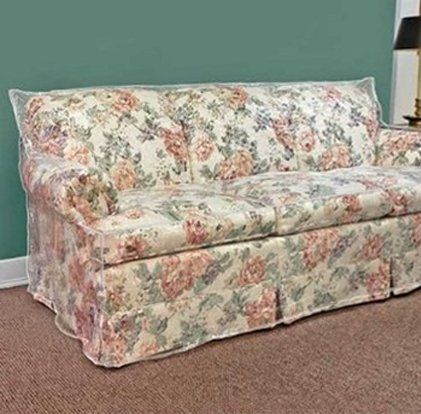 96 Clear Vinyl Furniture Protector Sofa Cover W X 40 D 42 H Rear 18 Front
