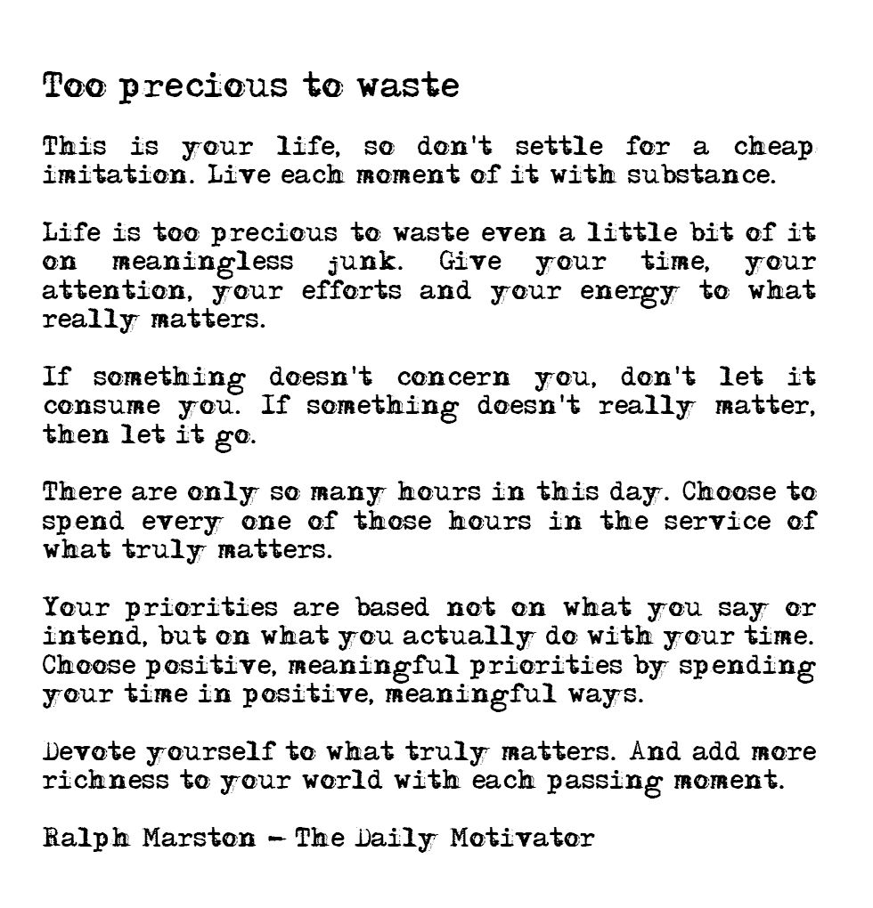 Ralph Marston Daily Motivator Motivation Note To Self Daily Motivation