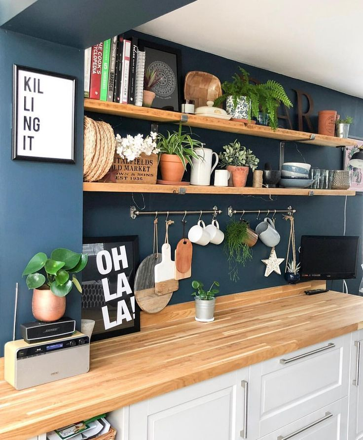 Blue kitchen walls Shelfie #blue