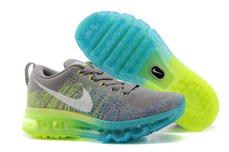 acheter en ligne 75235 fc169 En Ligne Lyon Homme 2014 Nike Flyknit Max Grise Clair ...