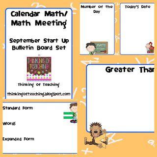 Thinking of Teaching: Morning Math Meeting/ Calendar Time (Mega Freebie)