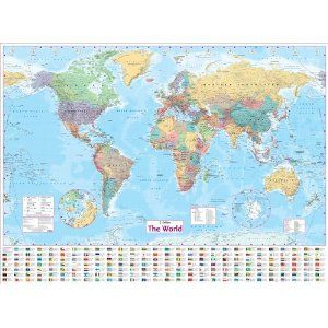 Collins world wall laminated map amazon collins uk books collins world wall laminated map amazon collins uk books gumiabroncs Choice Image