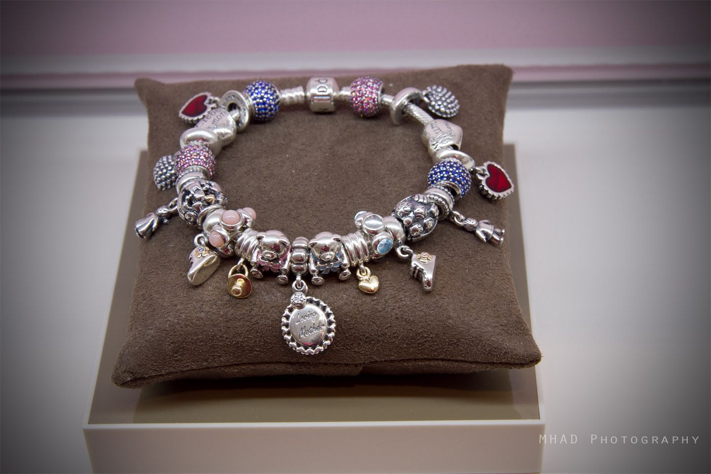 This bracelet features a number of new charms great for motherus day