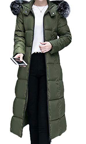 Keaac Womens Faux Fur Hooded Parka Down Down Coat Puffer Jacket