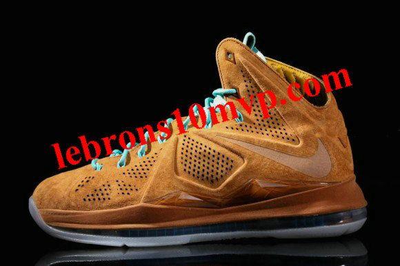 reputable site 6b1f8 c476e Nike LeBron X EXT QS Hazelnut Hazelnut