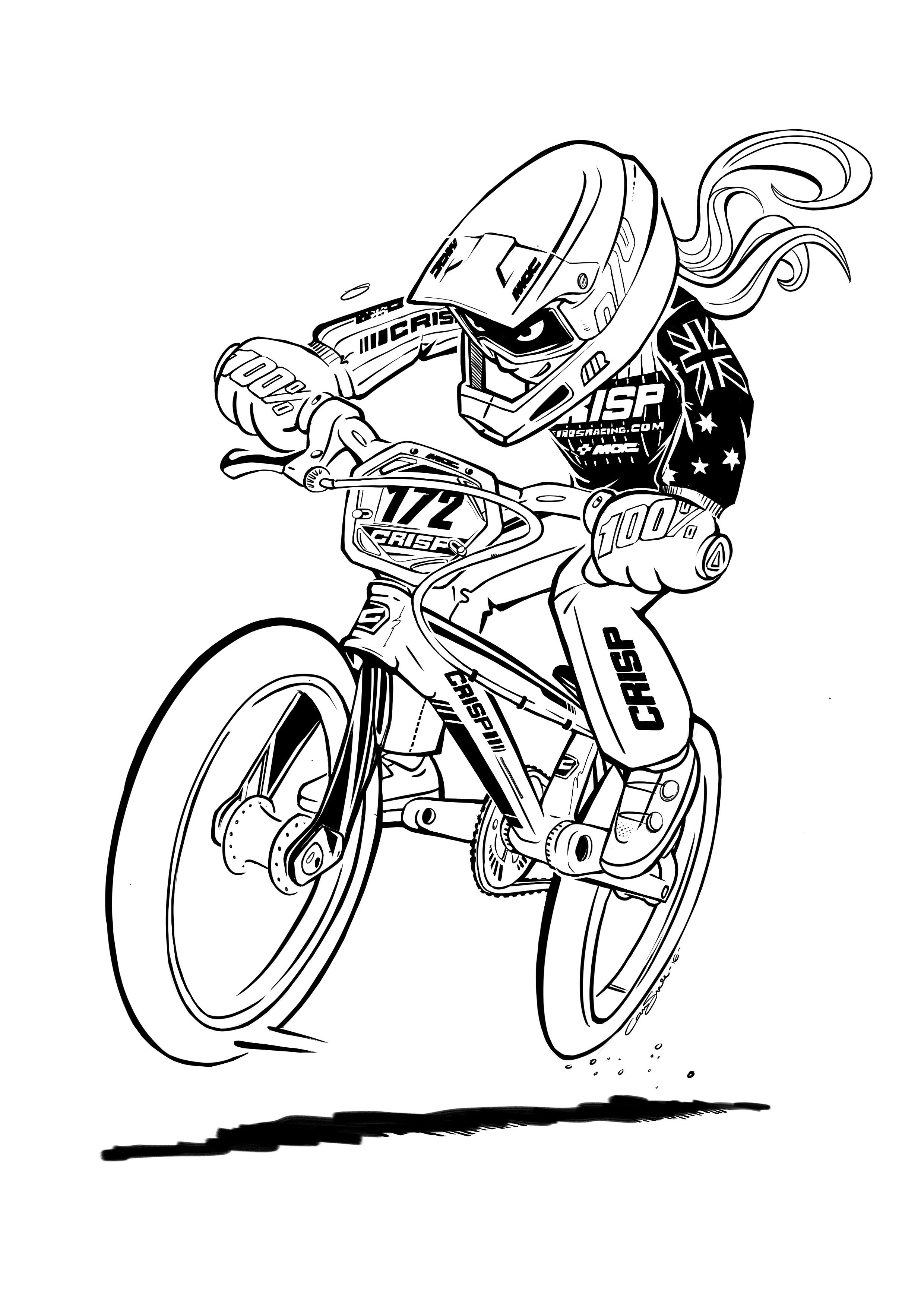 Bmx Illustration By Cam Small