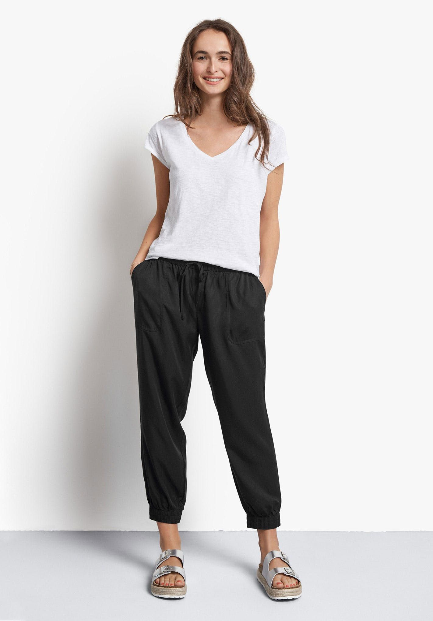 8ca90ff6e9ffa For a totally relaxed sports luxe look, these trousers are the perfect  choice to complement your existing everyday wardrobe. Just add your  favourite tee and ...