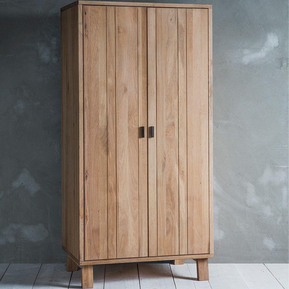 KIELDER SOLID OAK WARDROBE by Frank Hudson | Nordic Furniture | Oak ...