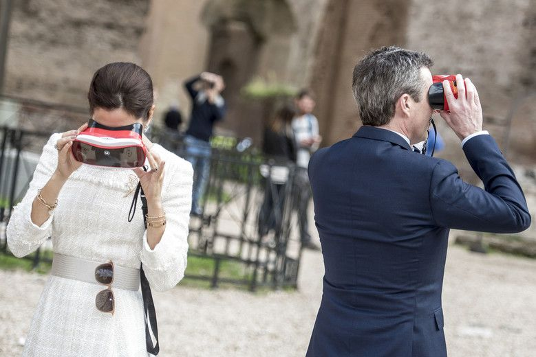 ecec5f8dd2f DENMARK: The Crown Prince Couple visit Rome with a business delegation -  visit to Terme di Caracalla