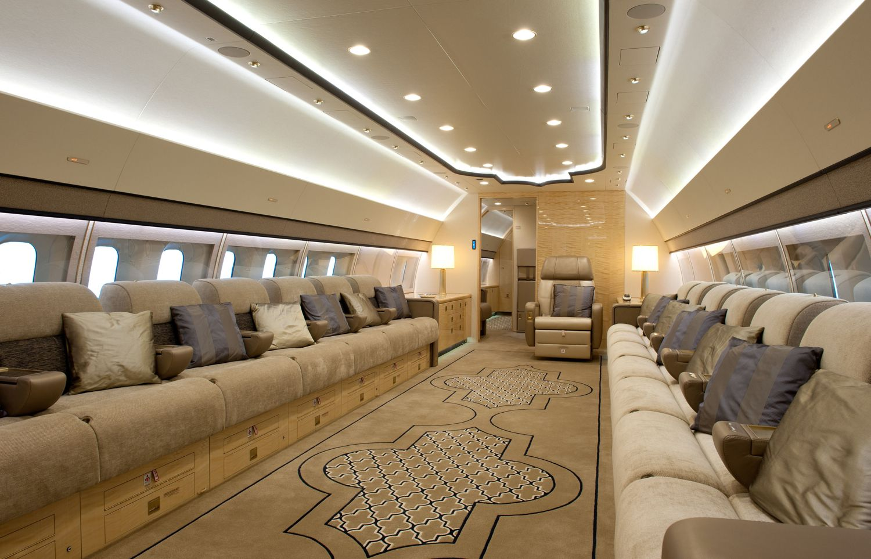 Boeing Business Jets - Роскошный салон частного самолёта BBJ 3