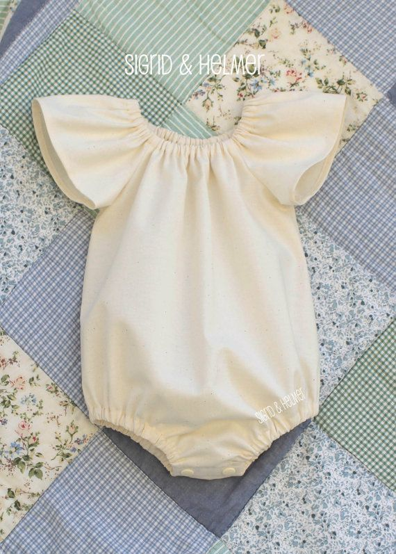 b6ea00d4d348 GOTS Organic Baby Girls Playsuit Romper... Made to Order ... Size Newborn -  2Y Summer Beach Home coming outfit