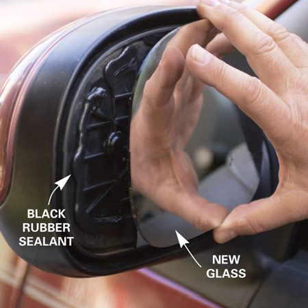 Replace Side View Mirror Glass Auto Repair Vehicles