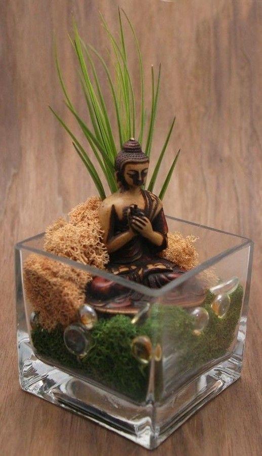 So Konnen Sie Einen Mini Zen Garten Kreieren Zen Dekoration Zen