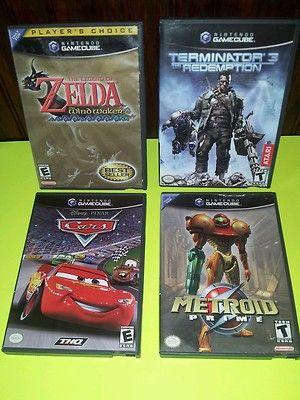 Nintendo GameCube Lot Wii Zelda Wind Waker Metroid Prime Terminator Disney Cars   eBay